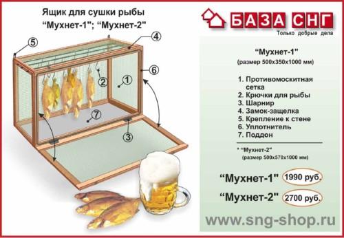 Ящики для вяления рыбы своими руками
